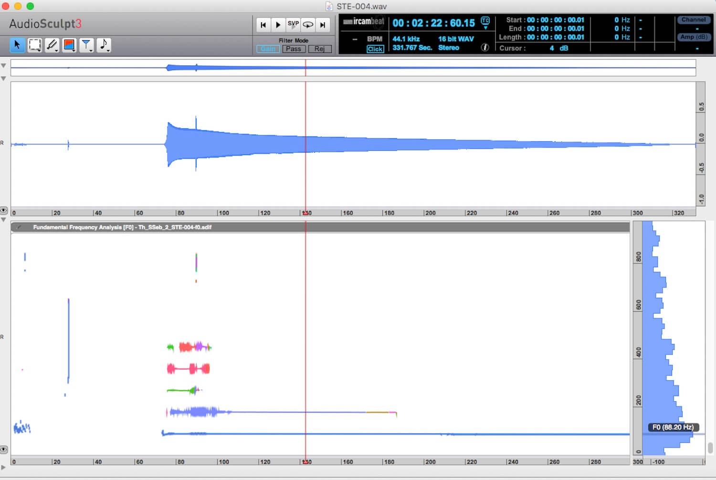Figure d'un logiciel montrant les analyse d'un son