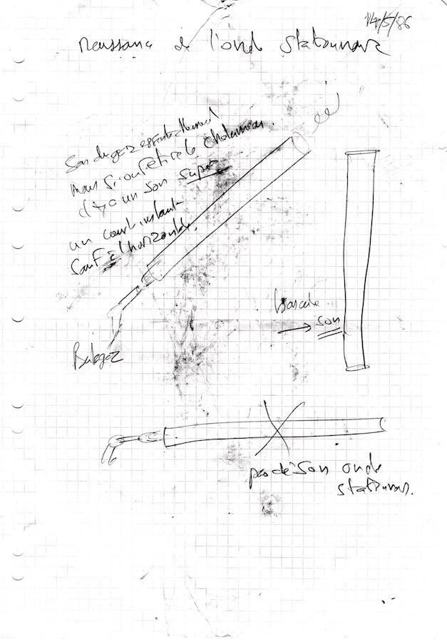 Dessin sur papier sali de tubes avec notess